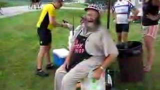 Mr Pork Chop Man on RAGBRAI XXXIV