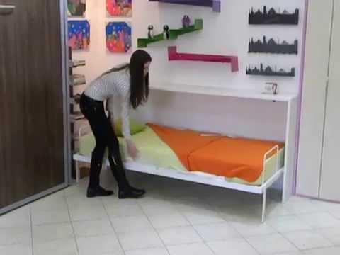 Horizontalni Zidni Krevet Standard Horizontal Wall Bed