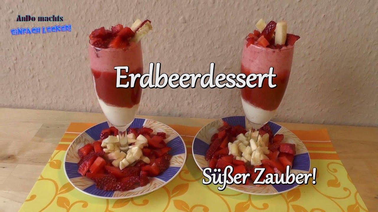 folge 7 erdbeer dessert in drei schichten schnell und einfach gemacht youtube. Black Bedroom Furniture Sets. Home Design Ideas
