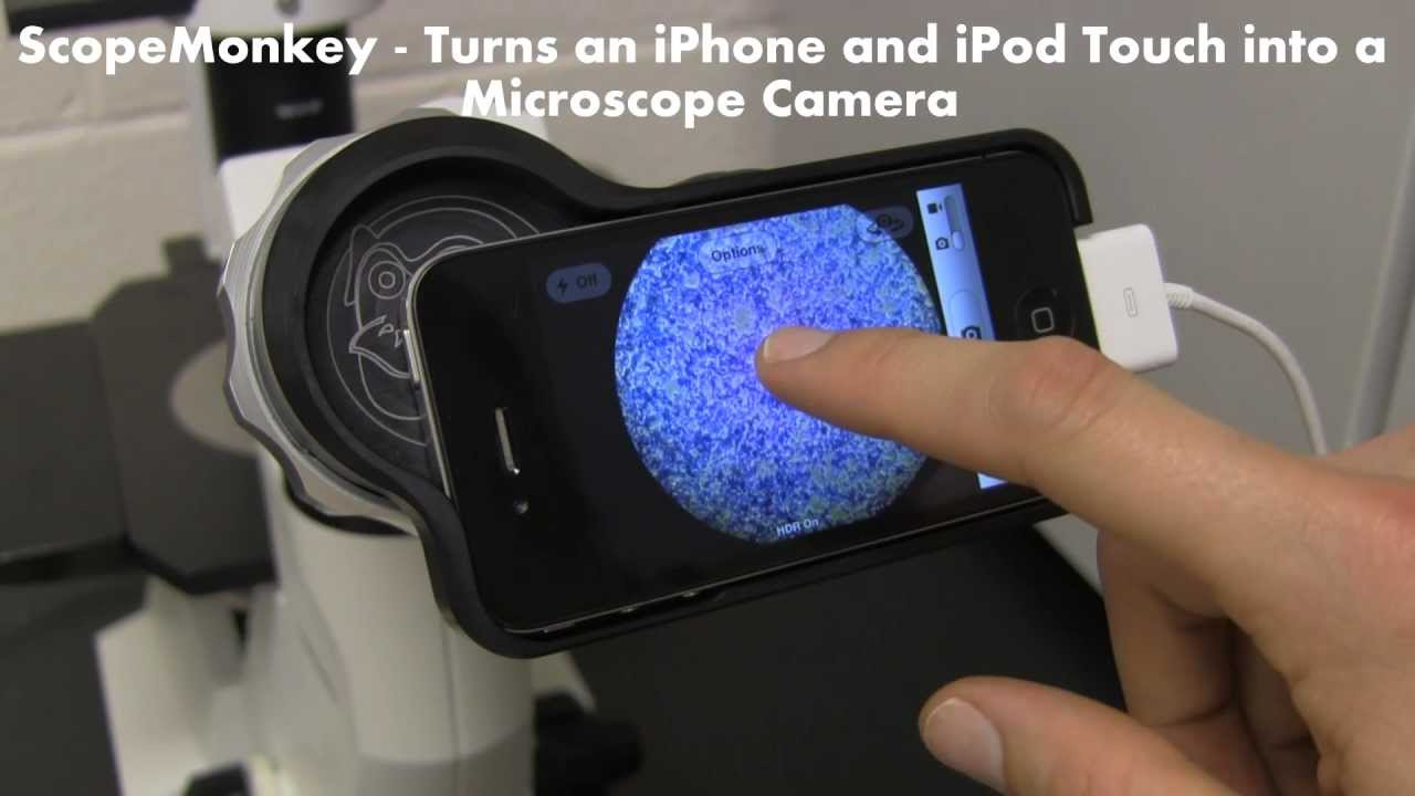 Iphone  Microscope Adapter