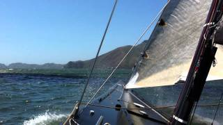Usa 76, Sailing On The Bay In 20+ Knots Of Wind, Golden Gate.