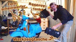 """FERNSCHEINWERFER / Neue ANBAUTEILE für die """"VERSORGER VESPA"""" - Die VESPA PK50 als VERSORGERFAHRZEUG"""