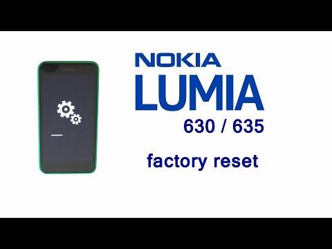 Nokia LUMIA 635 630 Hard Reset, Factory Master Reset, Screen Lock Solution