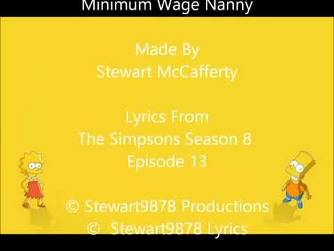 The Simpsons: Minimum Wage Nanny Lyrics