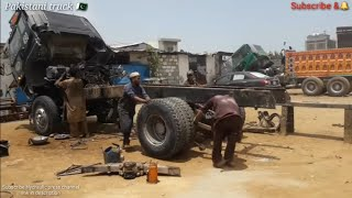 How to repairing a broken chassis UD  Nissan tipper truck