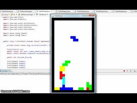 Tetris Java Game With Source Code Youtube