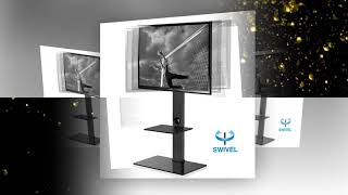 FITÜEYES Fitueyes Floor tv stand with mount two shelves for 32inch to 65 inch Sony Samsung  LG