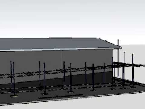 Steel tube Scaffold and roof edge protection