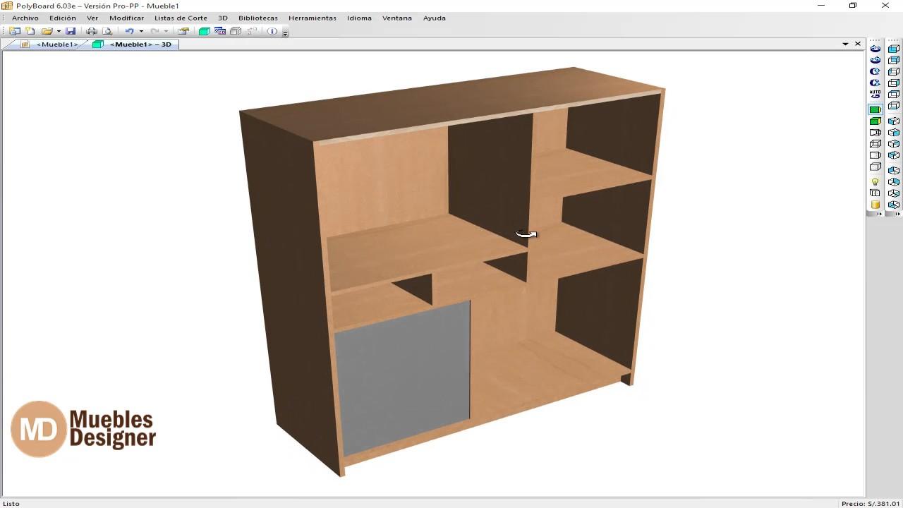 Polyboard de entretenimiento programa de for Programa para diseno de muebles