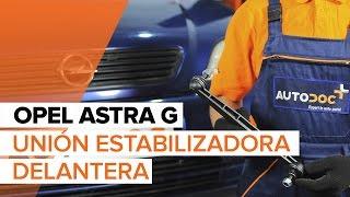 Montaje Bieletas de Suspensión delantera y trasera OPEL ASTRA G Hatchback (F48_, F08_): vídeo gratis