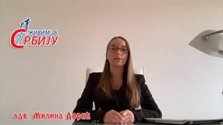 Адвокат Милина Дорић O потврдaма педијатра