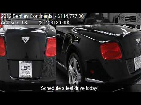2012 Bentley Continental Gt Awd 2dr Convertible For Sale In Youtube