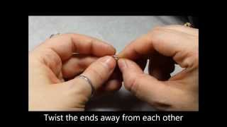 how to open close an endless nose ring