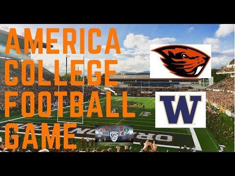 超震撼!美國大學美式足球賽直擊 // 華盛頓大學 V.S 奧勒岡州立大學
