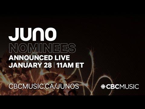 Live Juno Nominee Announcement Stream Cbc Music Youtube