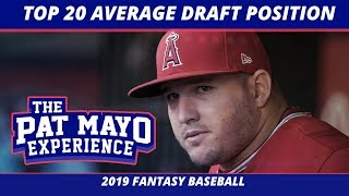 2019 Fantasy Baseball Rankings — Top 20 Players By Average Draft Position