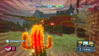 Fire Cactus Plants Vs Zombies Garden Warfare Unlocked Character 40,000 coin pack Xbox One
