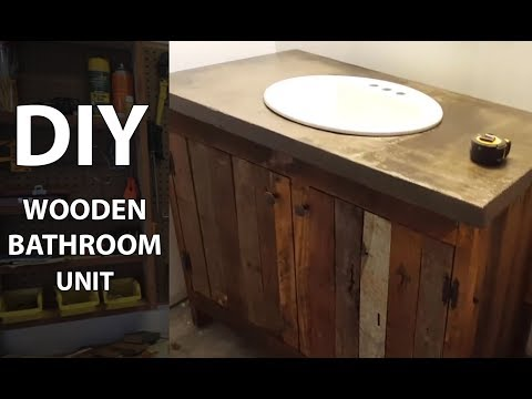 Wooden Bathroom Sink Cabinet From Pallets DIY
