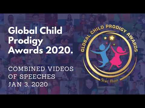 Combined videos of Inspiring Speeches at Global Child Prodigy Awards 2020