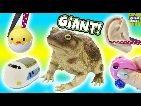 Cutting Open Squishy GIANT Frog Toy! Frog Guts Slime!! Homemade Squeeze Toy Doctor Squish