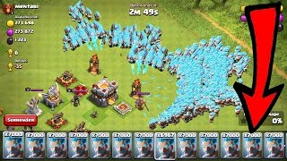 7000 Ice Wizzards vs Max TH11 - Clash Of Clans Ice Wizzard gameplay