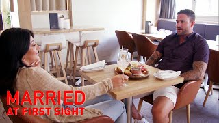 Martha grills Dan to find out his intentions with Jess MAFS 2019