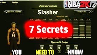 7 SLASHER TIPS/SECRETS YOU NEED TO KNOW-NBA 2K17