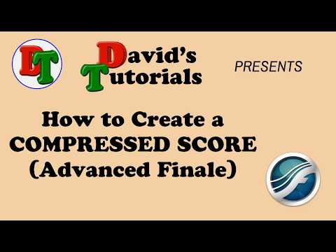 How to Create a COMPRESSED Score for Band (Advanced Finale)