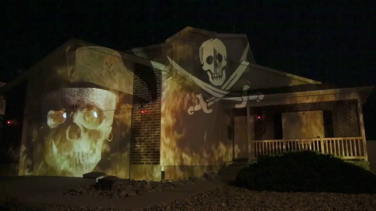 Decorating Ideas > Halloween House Projection Related Keywords & Suggestions  ~ 084731_Halloween Door Hologram