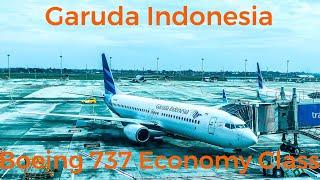 Garuda Indonesia Economy Class | Boeing 737-800NG | Jakarta - Yogjakarta | GA206