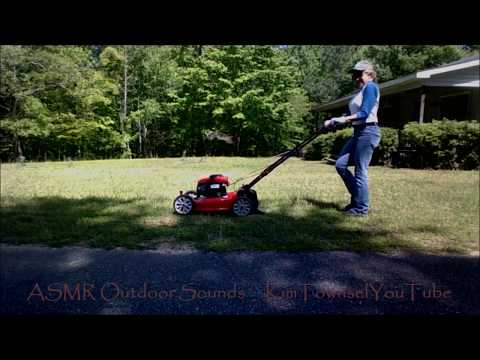 ASMR Outdoor Yard Work Sounds | Blower, Weed Whacker, Push Mower, & Chain Saw by Kim Townsel