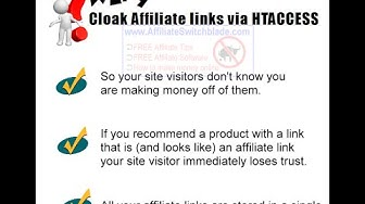 HTACCESS AFFILIATE LINK CLOAKING Code - How To