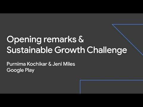 Opening remarks & Sustainable Growth Challenge (Sustainable Growth Day '19)