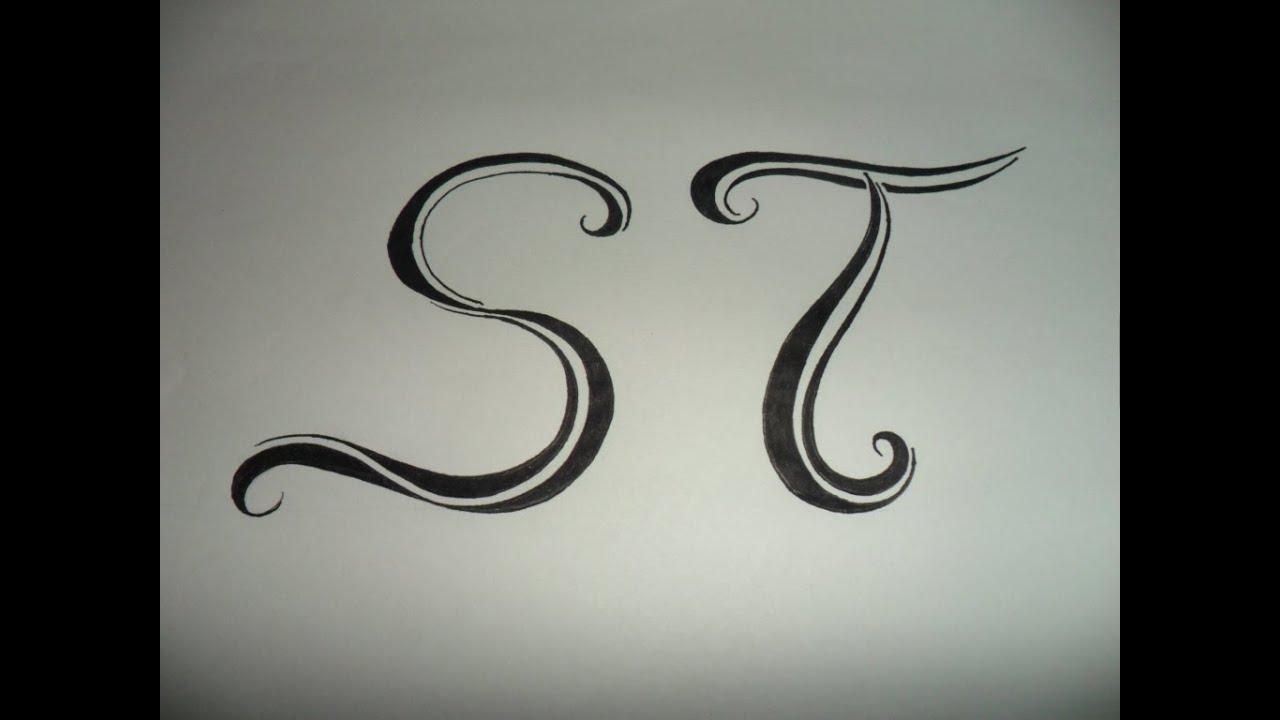 letras tribales s y t bases sencillas para crear y