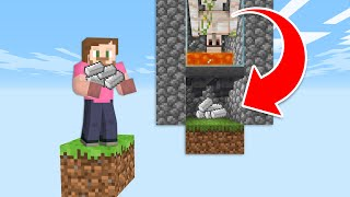 Building A Iron Golem Farmer In One Block Skyblock! | Minecraft