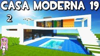 Casa Moderna 19 en Minecraft 🏡Como hacer y construir P2
