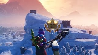 Fortnite Battle Royale - Week 1 Secret Battlestar Location (Season 7 Snowfall Challenges)