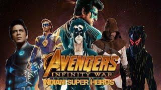 Marvel | indian Avengers | trailer | remix | krrish | velayudham | Hero| G-One| chitti | flying jett
