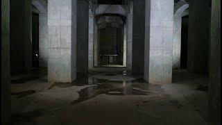 大雨にそなえる  善福寺川調節池