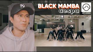 Performer Reacts To Aespa 'Black Mamba' Dance Practice
