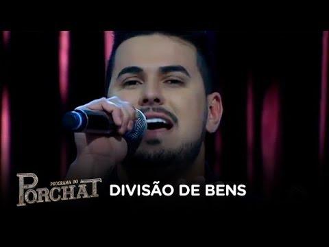 Gabriel Gava canta Divisão de Bens no palco do Porchat