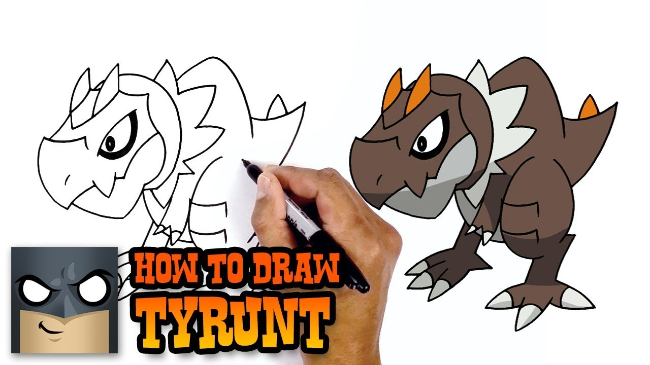How To Draw Pokemon Tyrunt Step By Step Youtube