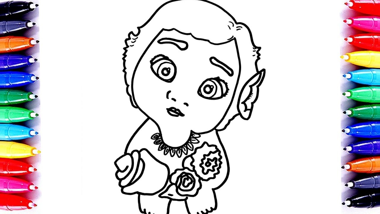 Coloring pages disney moana - Coloring Pages Disney Moana Baby Moana Best Coloring Book Pages Fun Learn For Kids Video