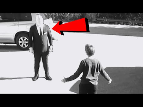 Security Footage Shows Slender Man Taking This Boy