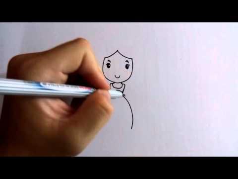 วาดการ์ตูนกันเถอะ สอนวาดการ์ตูนเจ้าหญิงน่ารัก ง่ายๆ หัดวาดตามได้