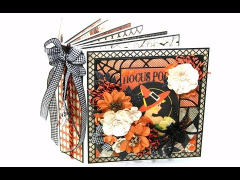 Vintage Halloween Mini Album Polly's Paper Studio Authentique Papers Scrapbook  DIY Art