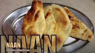 Naan Bread in a Pizza Oven cheekyricho tutorial