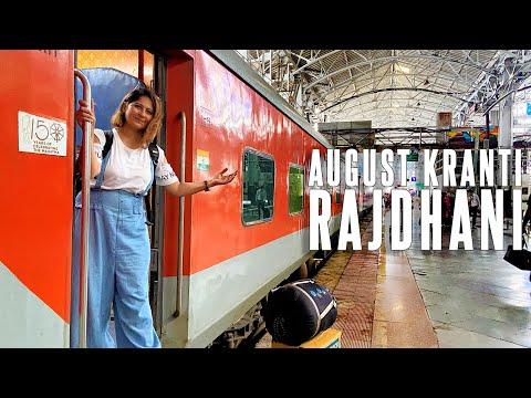 August Kranti Rajdhani Express Full Journey | Train Mein Gujarati Khana 'ठेपला aur छुन्दा'