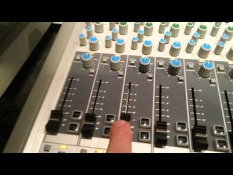 Capital University Studio A - recording to the 16 track Fostex analog machine