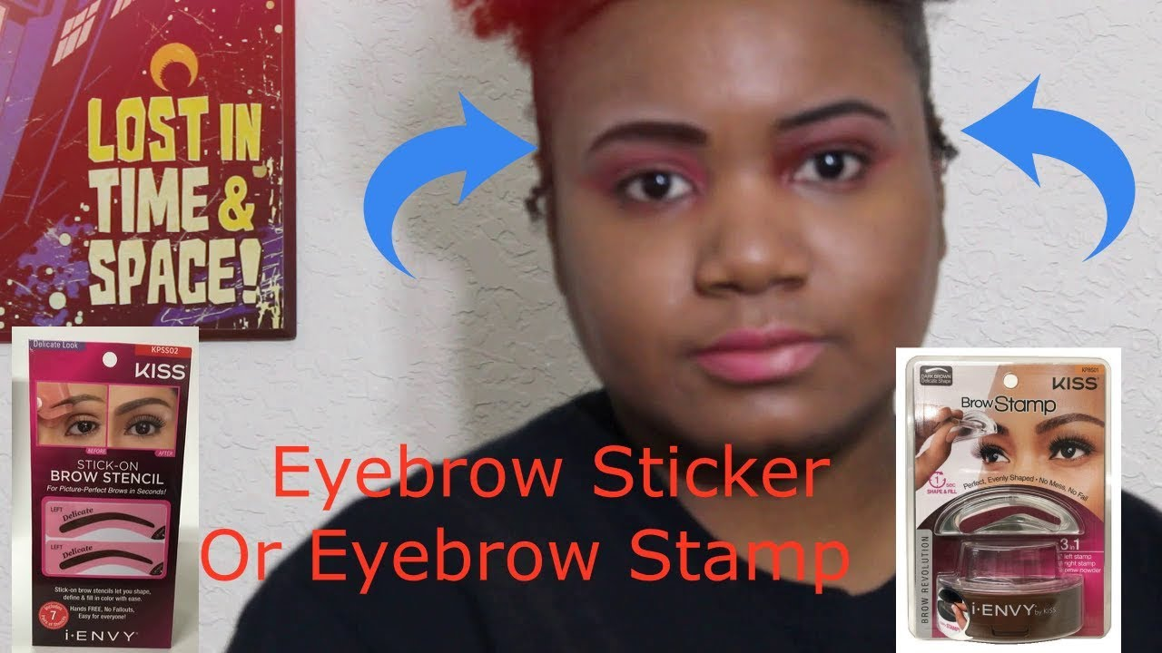 Eyebrow Sticker VS Stamp Tutorial